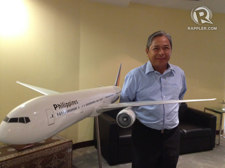 "THE WORK AHEAD. ""We need to see how we can reduce the impact of over purchasing airplanes. We have to do something about it,"" PAL President Jaime Bautista says. Photo by Mick Basa / Rappler"