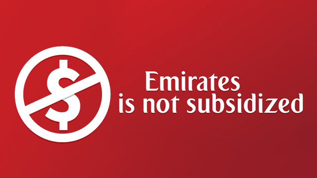 EMIRATES NOT SUBSIDIZED. Image from Emirates website