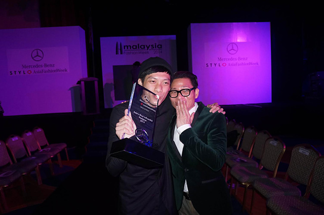 ASIA'S MOST INFLUENTIAL. This year's Most Influential Designer, Joe Chia (L), in a light moment with last year's winner, Avel Bacudio