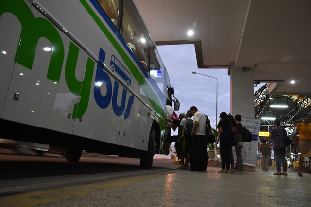 CONVENIENCE. Passengers can now board a bus from the arrival area to SM Cebu for P25.