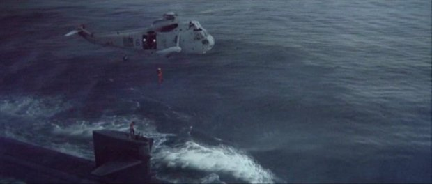 Image result for helicopter scene onto uss dallas in the hunt for red october