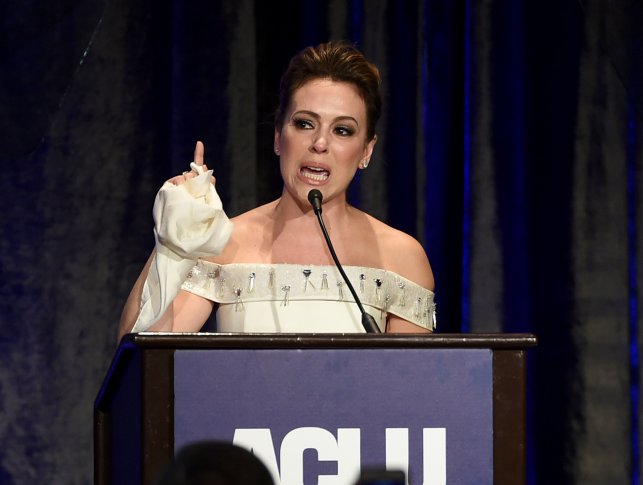 Alyssa Milano calls for 'intellectually and morally bankrupt' Bernie Sanders to suspend campaign — though she gushed over him in 2016