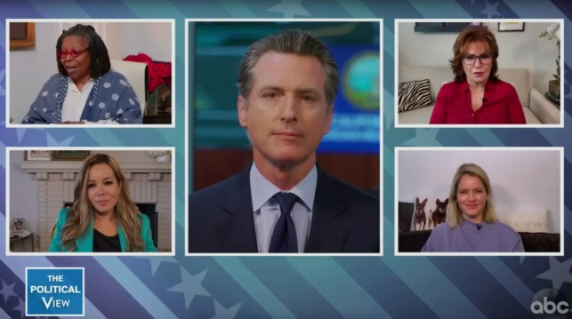 'The View's' Joy Behar tries to get Calif. Gov. Gavin Newsom to blast Trump — but he hits back with only praise for the president