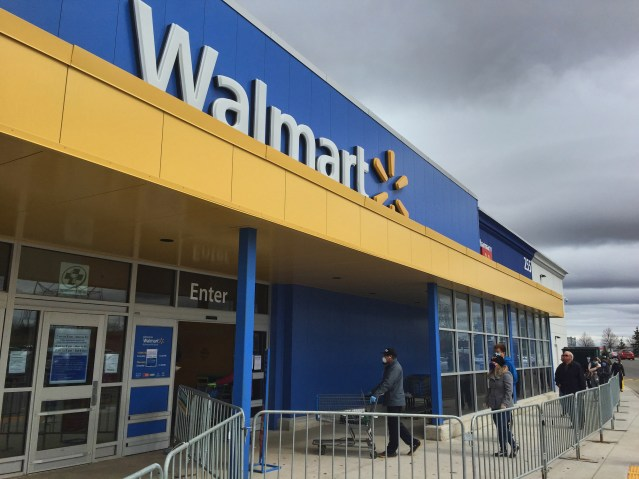 A security guard told a man he couldn't enter Walmart over social distancing. The man then rammed his car into the guard.