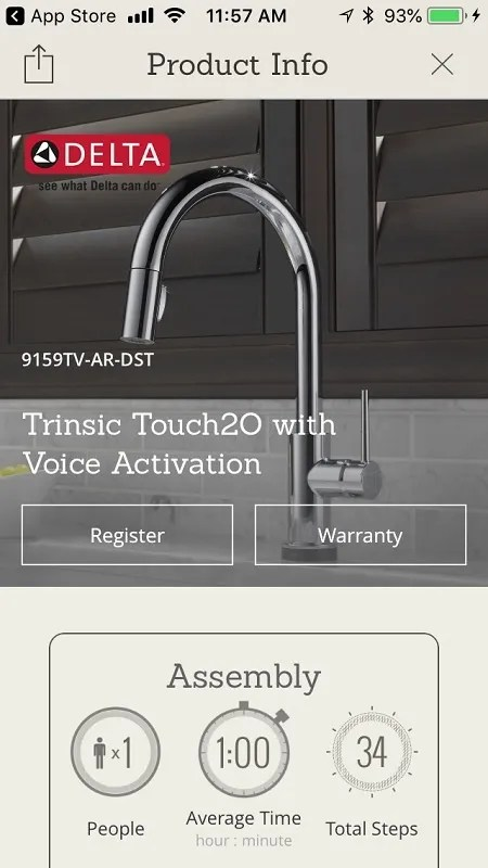delta touch2o smart faucet with voice