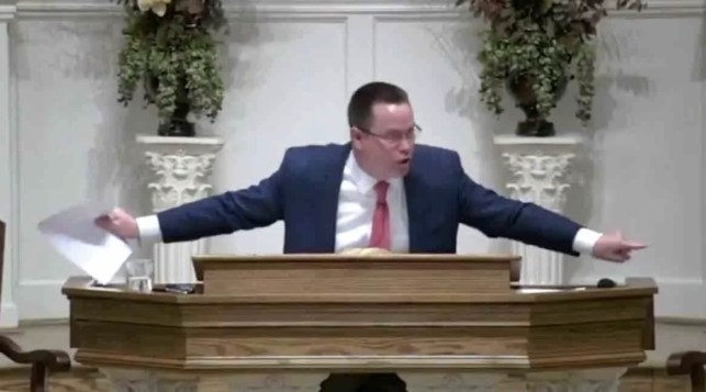 Pastor tears up cease-and-desist letter during sermon: 'God tells us how to worship him — nobody else gets to do that!'