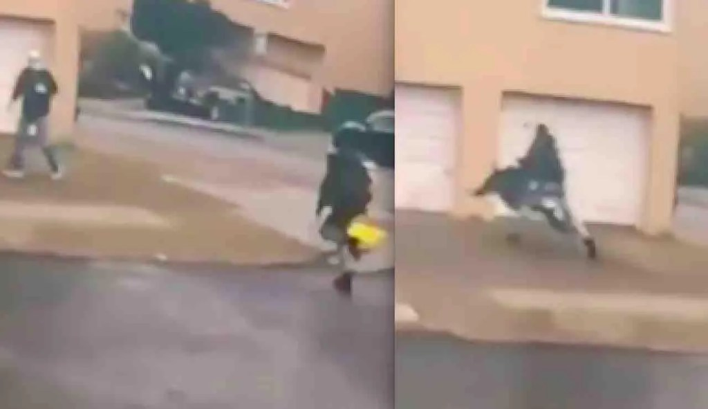 Watch:VIDEO: Thug sprints across street, slams into 84-year-old man, flattens him on driveway. Victim later dies.