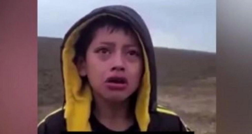 Heartbreaking video  shows abandoned 10-year-old migrant boy found sobbing in Texas desert, seeking help