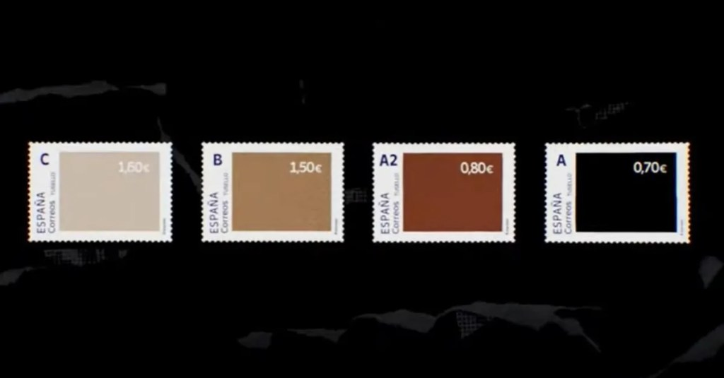 Spain's postal service introduces skin-tone stamps to fight racism — and makes the whitest one the most valuable