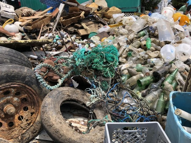 Marine debris collected from the 2018 Great Mangrove Cleanup.