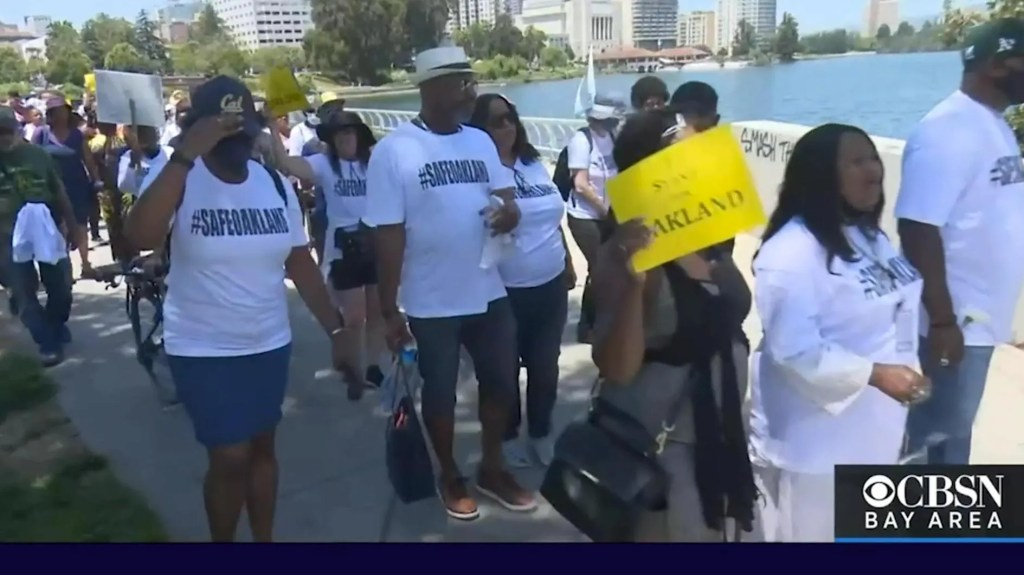 Reporter witnesses 'surreal' moment when 'mostly black families' rally to support police while Antifa protests