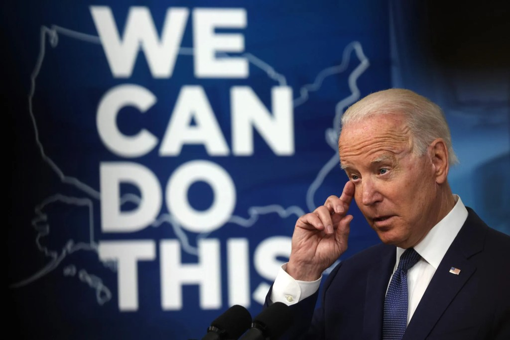 Biden says the gov't will begin a door-to-door push for vaccination after failing to meet 4th of July goal