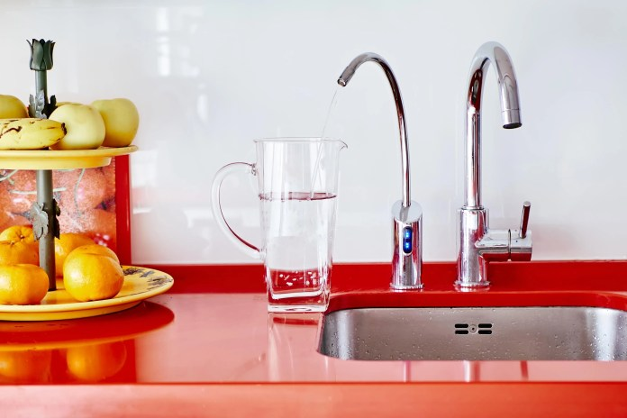 Osmosis filtered water tap