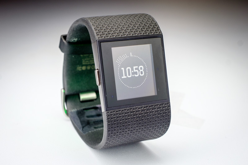 Close-up of Fitbit Surge Fitness Tracker