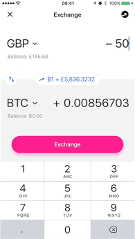 Revolut app screen