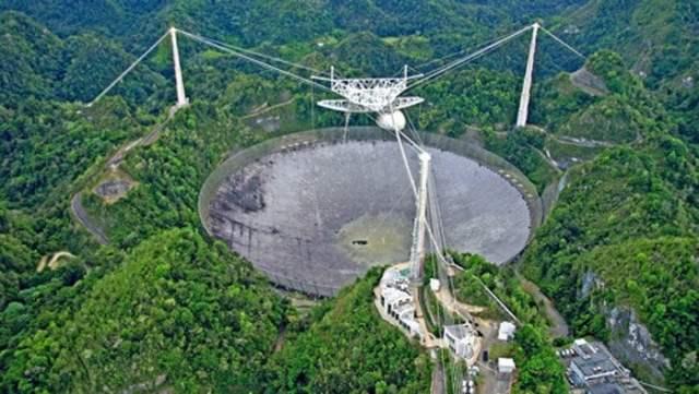 অ্যারেসিবো মানমন্দির: যেখান থেকে পাঠানো হয়েছিল অ্যারেসিবো বার্তা: Image Source: commons.wikimedia.org