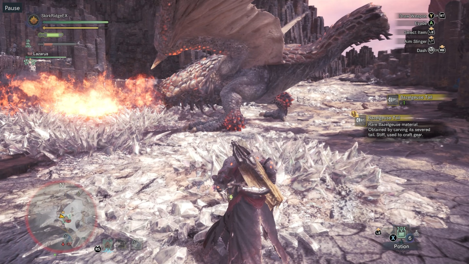 Monster Hunter World Bazelgeuse How To Kill It What Is Its Weakness Rock Paper Shotgun