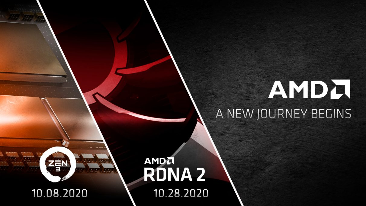 AMD's next-gen event schedule for RDNA 2 and Big Navi.