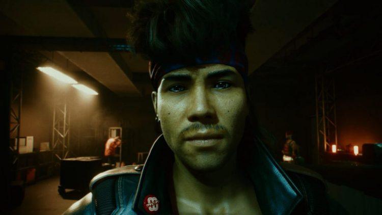 A screenshot of Kerry Eurodyne in Cyberpunk 2077.