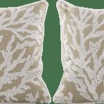 Ulesi Beige Indoor Outdoor Accent Pillow Set Of Two Rooms To Go