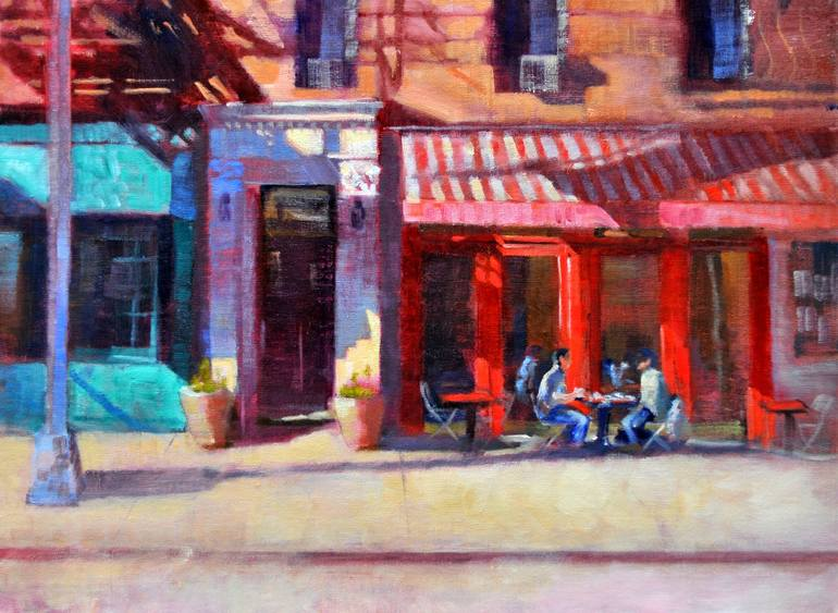 Saatchi Art  Cornelia Street Cafe  Greenwich Village NYC Painting by     Saatchi Art Artist Joseph Palazzolo  Painting     Cornelia Street Cafe   Greenwich Village NYC