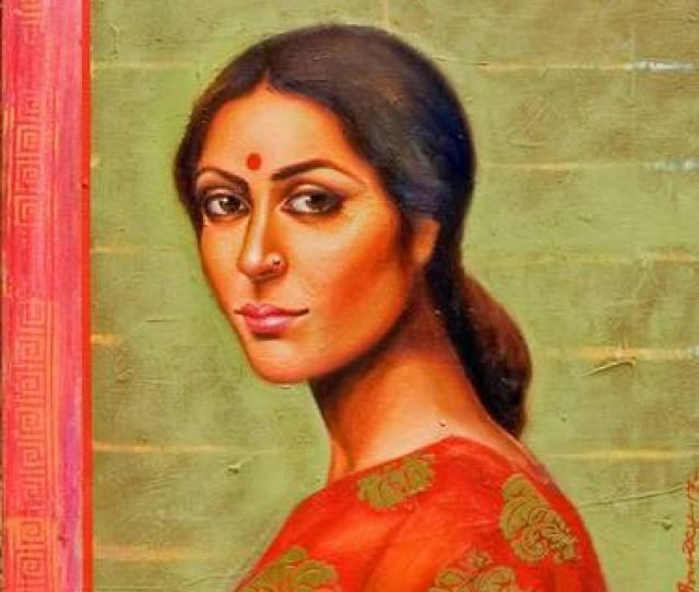 Saatchi Art Artist Harisadhan Dey Painting Bengali Beauty Art