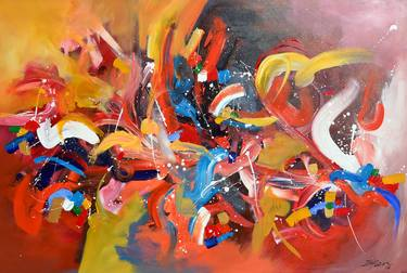 Saatchi Art  New year Celebration Abstract Expression Painting by     Saatchi Art Artist irfan mirza  Painting     New year Celebration Abstract  Expression