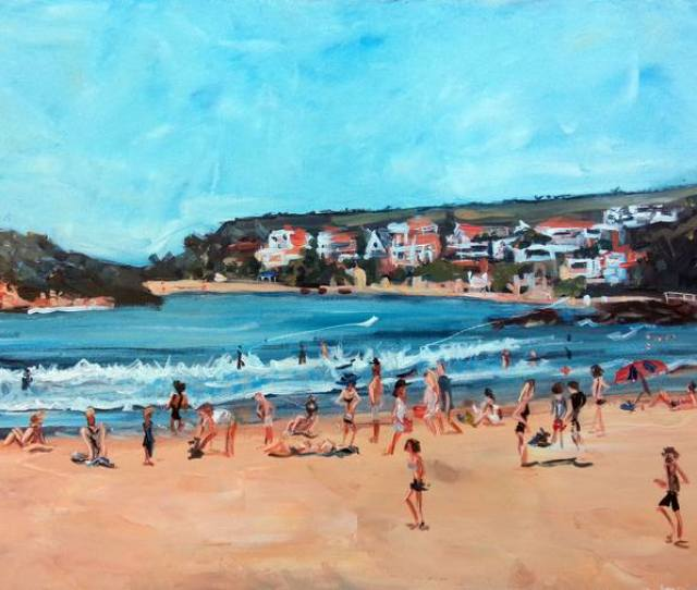 Saatchi Art Artist Duncan Staples Painting Manly Facing Shelly Beach