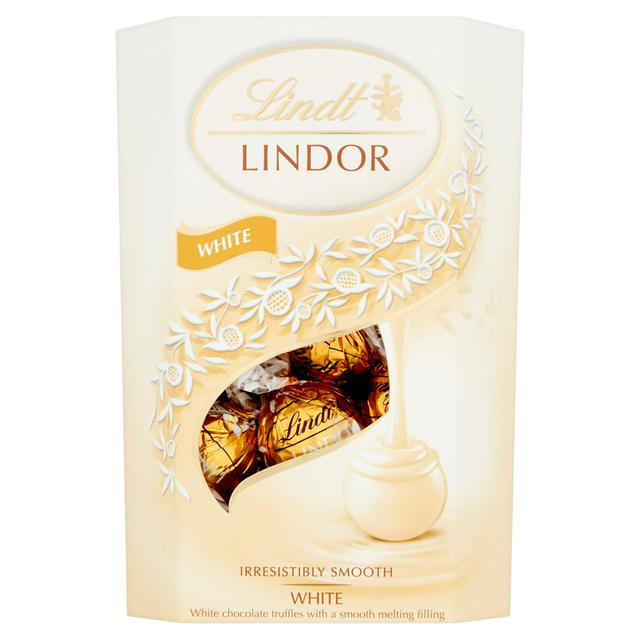Lindt Lindor White Chocolate Truffles Box 200g   Sainsbury's