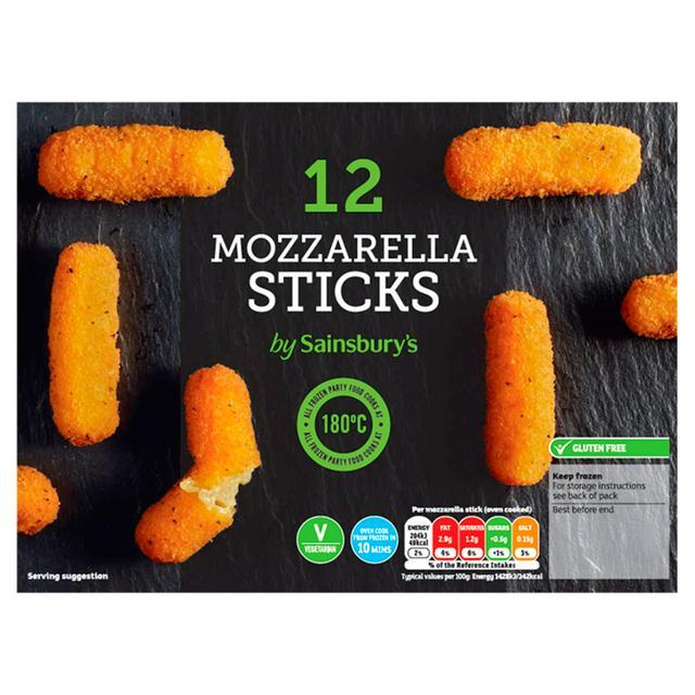 Sainsbury's Mozzarella Sticks x12 180g