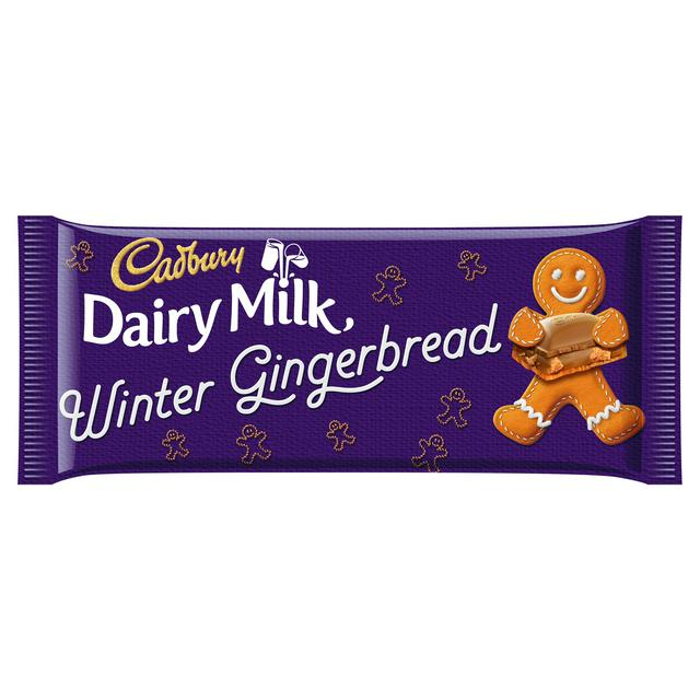 Cadbury Dairy Milk Gingerbread Chocolate Bar 120g | Sainsbury's