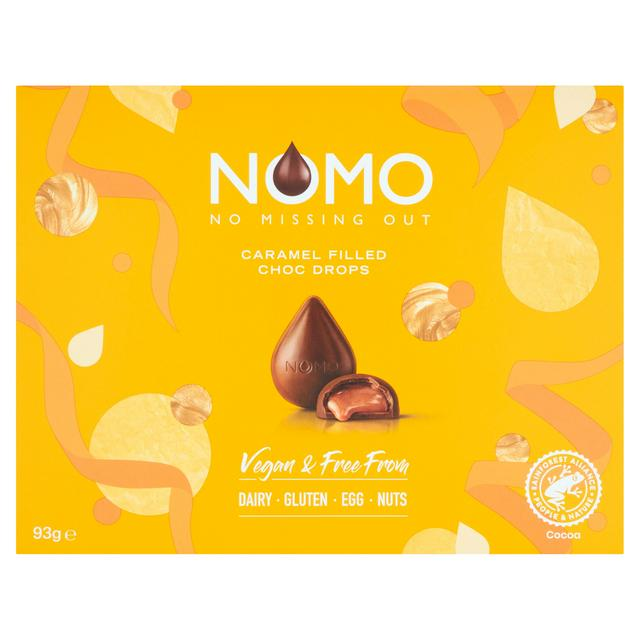 Nomo Vegan & Free From Caramel Filled Chocolate Drops 93g