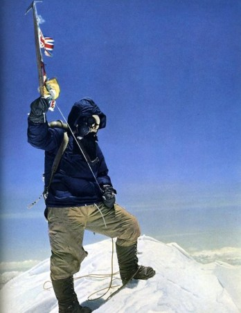 Resultado de imagen para Edmund Percival Hillary on everest in color