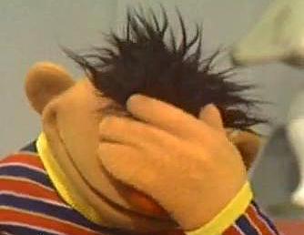 Ernie Facepalm