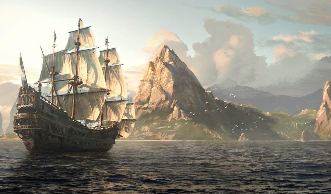 Assassin's Creed Black Flag, Edward Kenway, Matte Painting,
