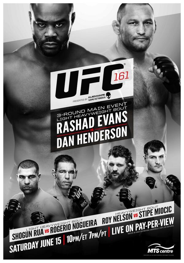 UFC 161 poster