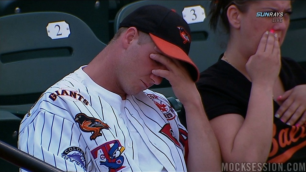 Image result for sad orioles fan