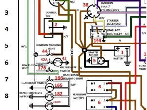 WIRING SCHEMATICS COLOUR CODED FOR JAGUAR & TRIUMPH