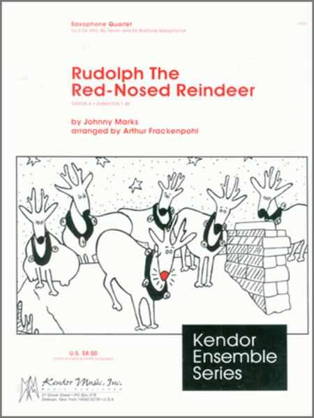 Sax Red Tenor Rudolph Reindeer Nosed Solo