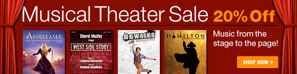 20% Off of Musical Theater on Sheet Music Plus
