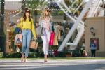 Women with shopping bags at Irvine Spectrum Center