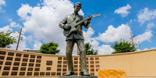 Lubbock Depot District - Buddy Holly statue