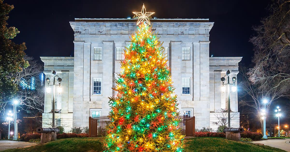 christmas tree lightings in raleigh n c