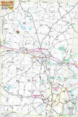 Maps Of Orange County Chapel Hill And Orange County Visitors Bureau
