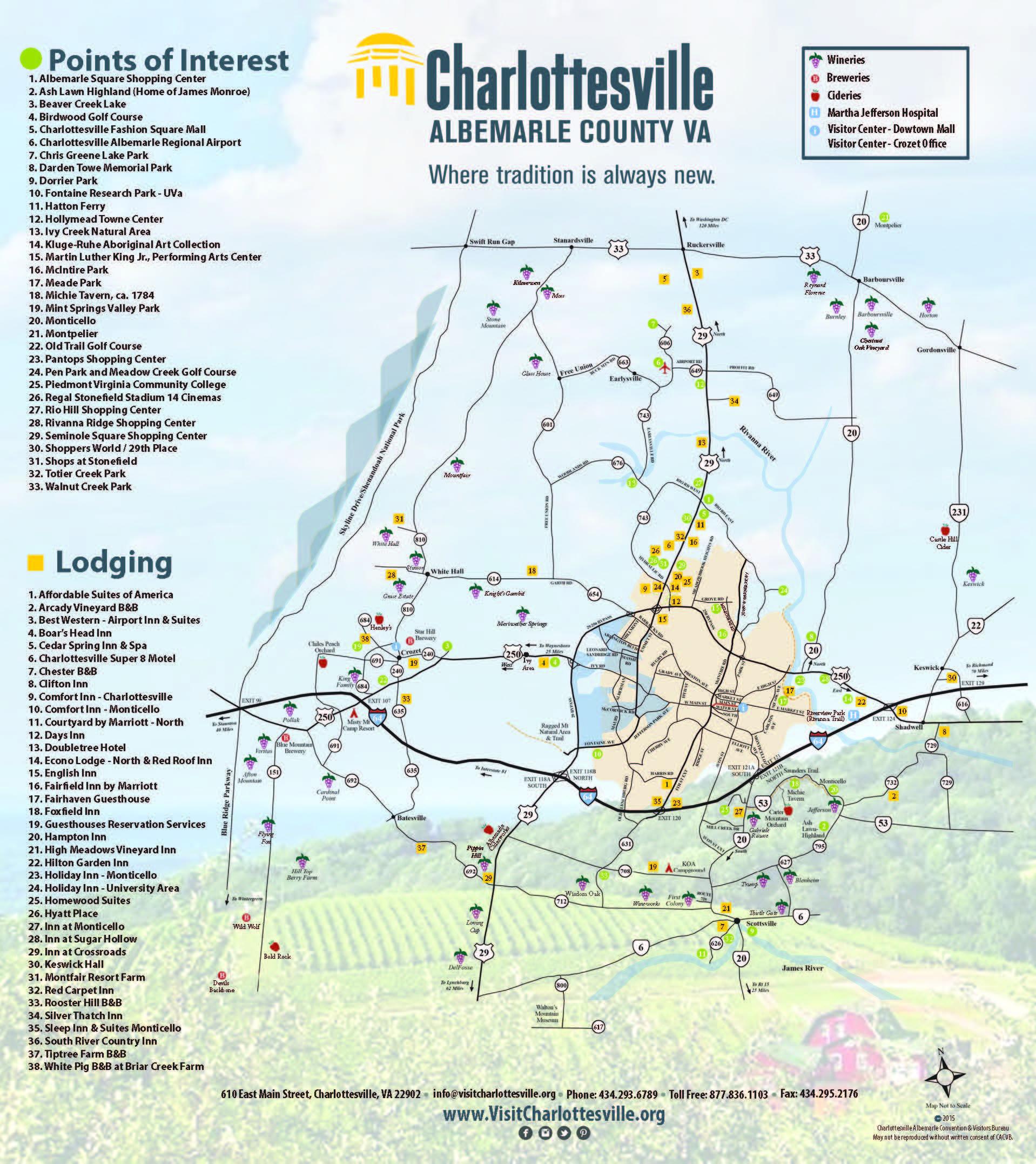 Charlottesville Area Maps