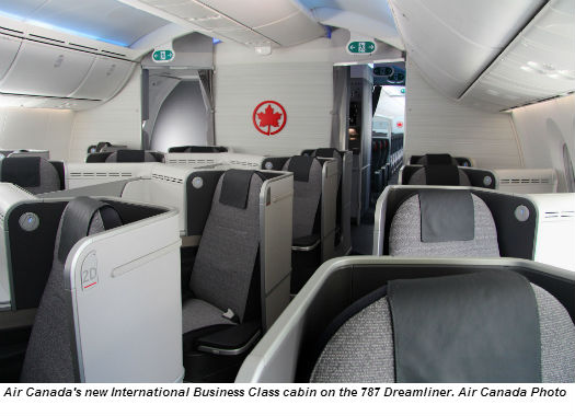 Air Canada Debuts New International Cabin Interiors With