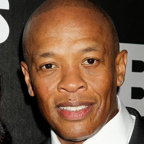 Close up of Dr. Dre