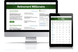 Retirement Millionaire publication as viewed on desktop and tablet devices