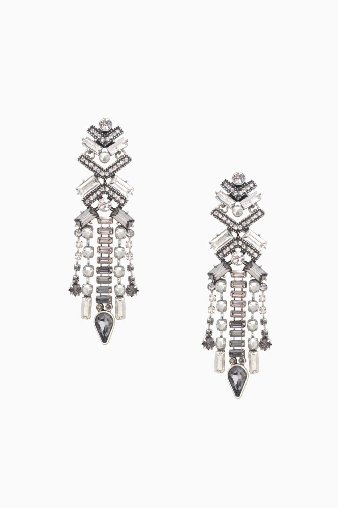 Grey And Silver Sparkly Chandelier Earrings Stella Dot