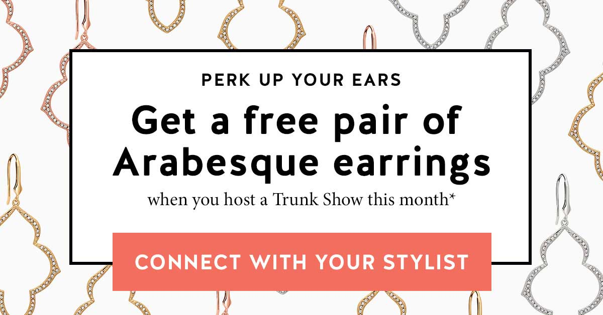 Get a free pair of Arabesque Earrings!